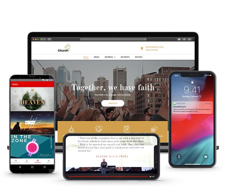 homepage website sample